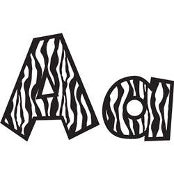 Shop 4In Fun Font Letters Zebra - Tcr75126 By Teacher Created Resources