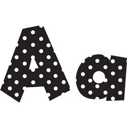 Shop 4In Fun Font Letters Black Polka Dot - Tcr75140 By Teacher Created Resources