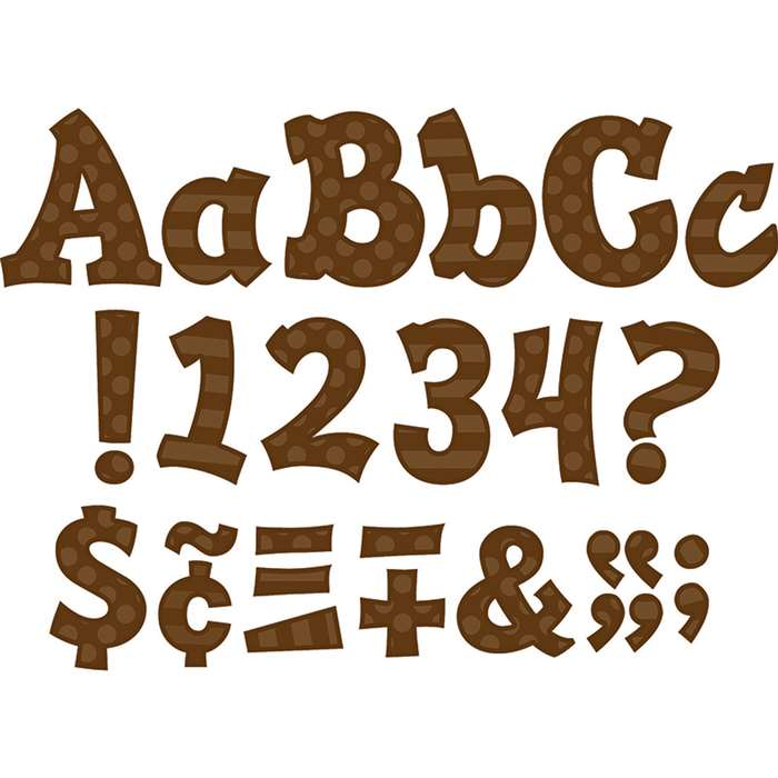 "Brown 5"" Sassy Font, TCR75263"
