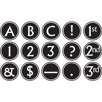 Shop Circle Letters Big Bold Black & White - Tcr75400 By Teacher Created Resources