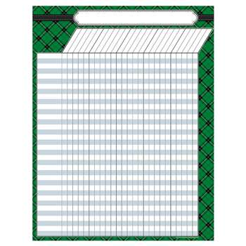Green Plaid Incentive Chart, TCR7546