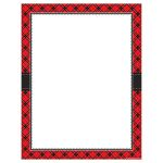 Red Plaid Blank Chart, TCR7548