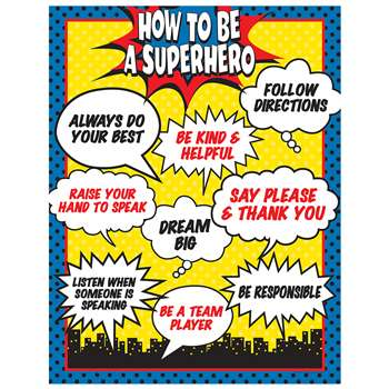 How To Be A Superhero Chart, TCR7550