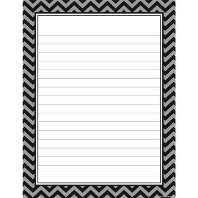 Black Chevron Lined Chart, TCR7579