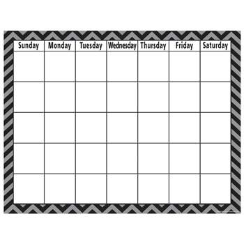 Shop Black Chevron Calendar Chart - Tcr7581 By Teacher Created Resources