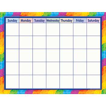 Rainbow Calendar By Teacher Created Resources