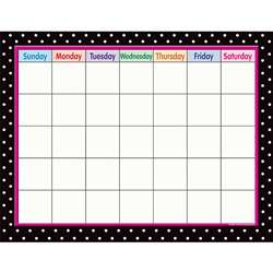 Black Polka Dots Calendar By Teacher Created Resources