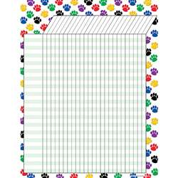 Colorful Paw Prints Incentive Chart By Teacher Created Resources