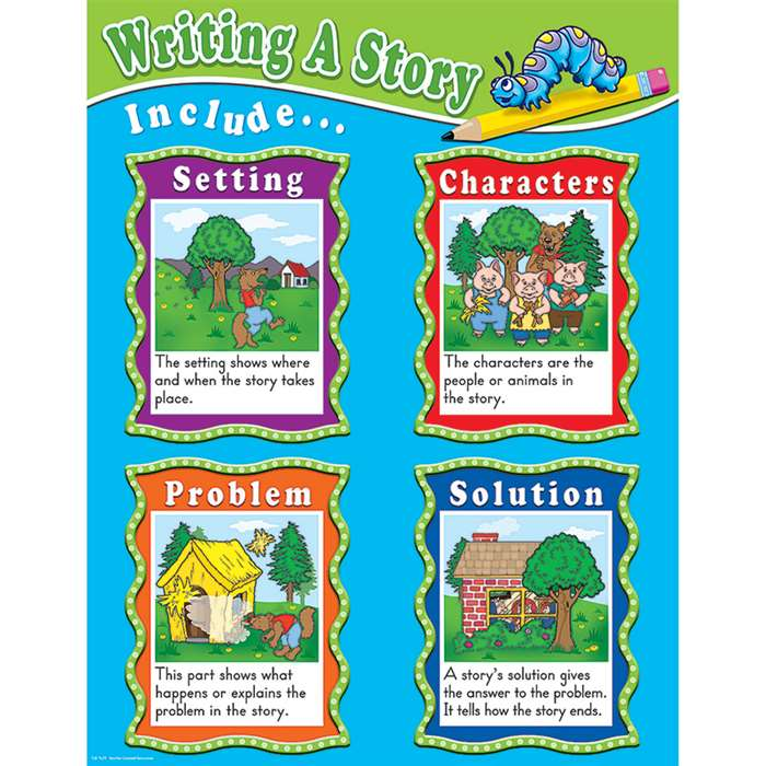 Writing A Story Chart By Teacher Created Resources