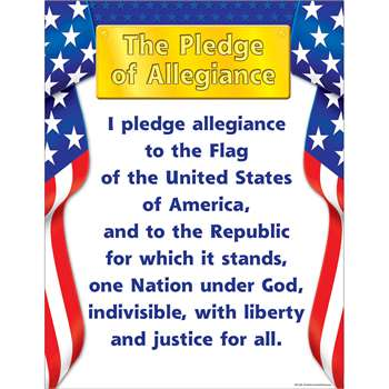 Pledge Of Allegiance Chart By Teacher Created Resources