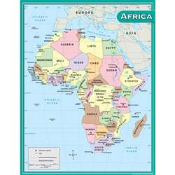 Africa Map Chart 17X22 By Teacher Created Resources