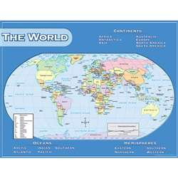 World Map Chart 17X22 By Teacher Created Resources
