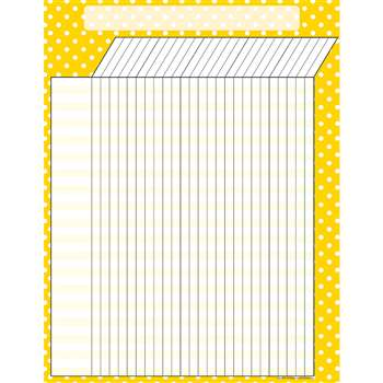 Yellow Polka Dots Incentive Chart By Teacher Created Resources
