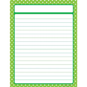 Lime Green Polka Dots Chart By Teacher Created Resources