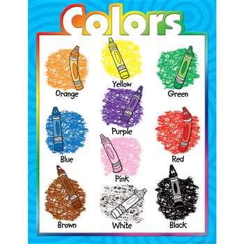 Colors Early Learning Chart By Teacher Created Resources