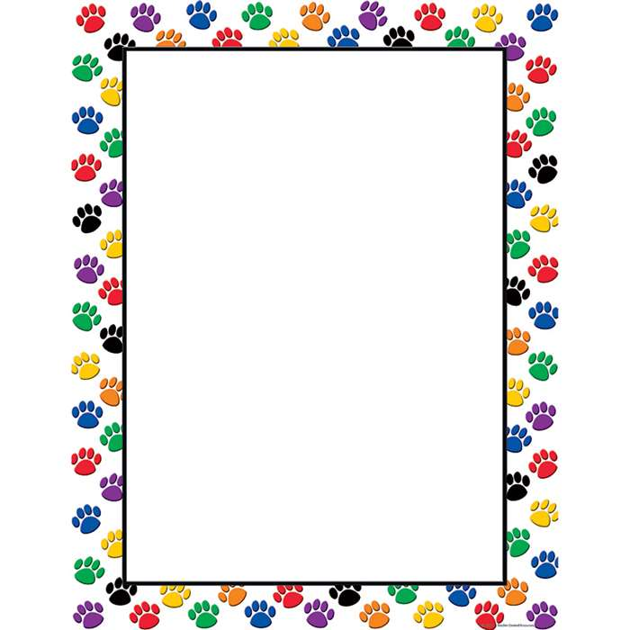 Colorful Paw Prints Blank Chart By Teacher Created Resources