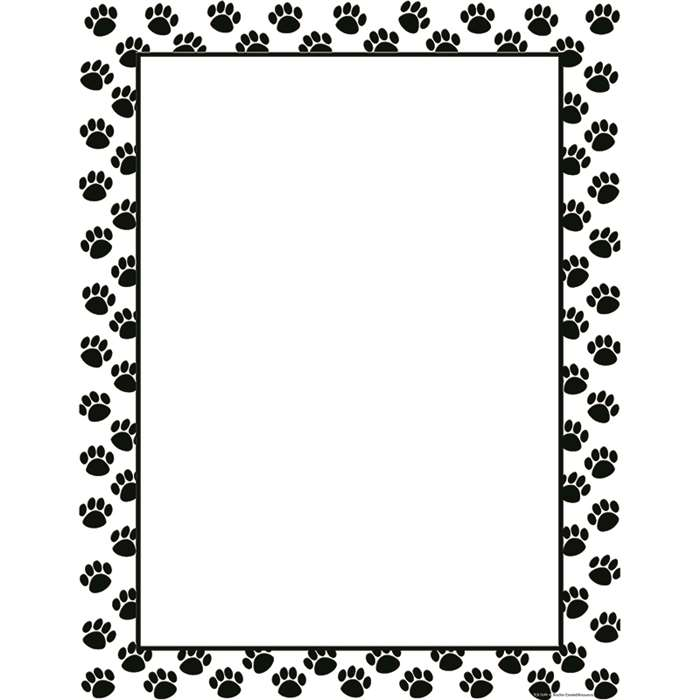 Black Paw Prints Blank Chart By Teacher Created Resources