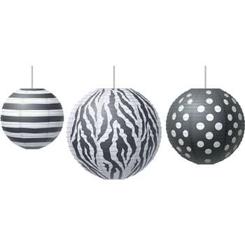 Paper Lanterns Big Bold Black & White, TCR77101