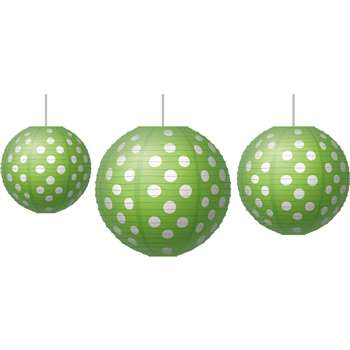 Paper Lanterns Lime Polka Dots, TCR77102