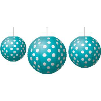 Paper Lanterns Teal Polka Dots, TCR77103