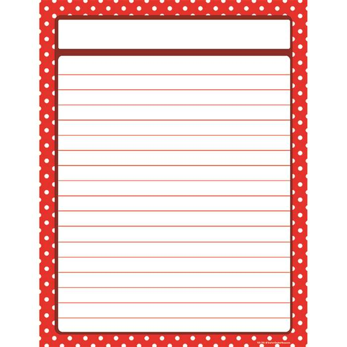 Red Polka Dots Blank Chart By Teacher Created Resources