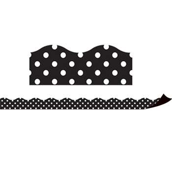 Magnetic Borders Black Polka Dots, TCR77124