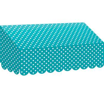 Teal Polka Dots Awning, TCR77163