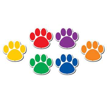 Colorful Paw Prints Magnetic Accents, TCR77207