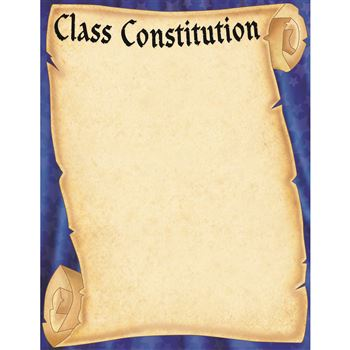 Class Constitution Scroll Chart, TCR7721