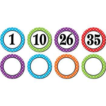 Polka Dots Numbers Magnetic Accents, TCR77211