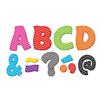 "Chevron Funtastic Font 3"" Magnetic Letters, TCR77213"