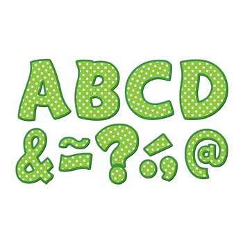 "Lime Polka Dots Funtastic Font 3"" Magnetic Letter, TCR77215"