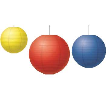 Red Yellow & Blue Paper Lanterns, TCR77230