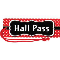 Red Polka Dots Magnetic Hall Pass, TCR77238