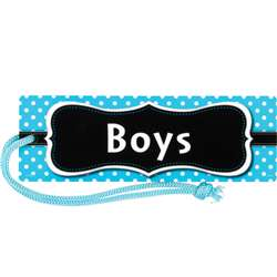 Aqua Polka Dots Magnetic Boys Pass, TCR77239