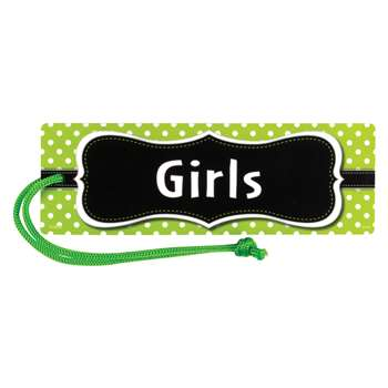 Lime Polka Dots Magnetic Girls Pass, TCR77240