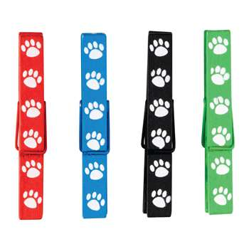 Paw Prints Magnetic Clothespins, TCR77251
