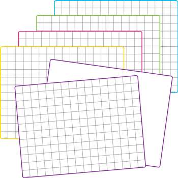 Math Grid Dry Erase Boards 10 St, TCR77253