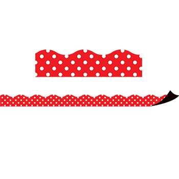 Red Polka Dots Magnetic Border, TCR77255
