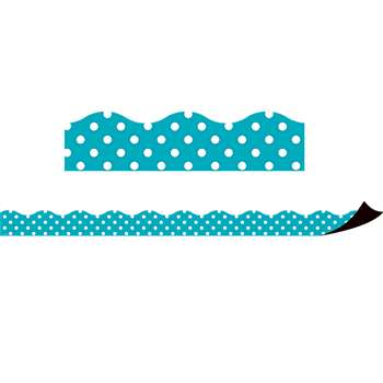 Teal Polka Dots Magnetic Border, TCR77257