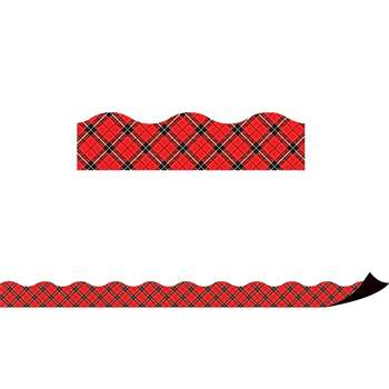Red Plaid Magnetic Border, TCR77259