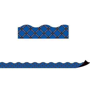 Blue Plaid Magnetic Border, TCR77260