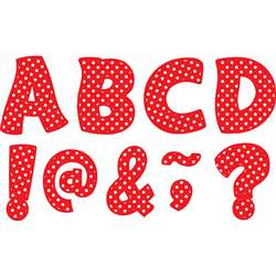 "Red Polka Dots Funtastic Font 3"" Magnetic Letters, TCR77267"