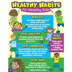 Healthy Habits For Healthy Kids Chart By Teacher Created Resources