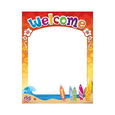 Surfs Up Welcome Chart By Teacher Created Resources