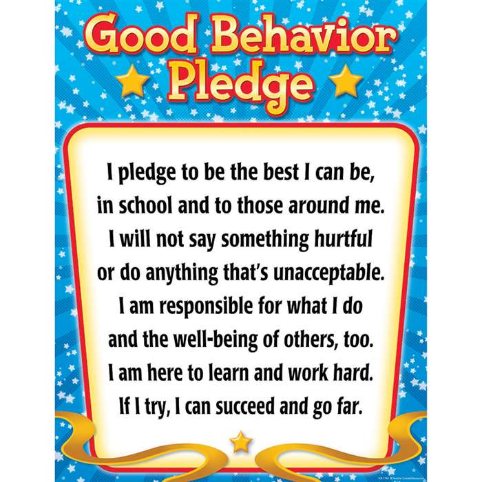Shop Good Behavior Pledge Chart - Tcr7790 By Teacher Created Resources