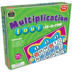 Multiplication Four-In-A-Row Game By Teacher Created Resources