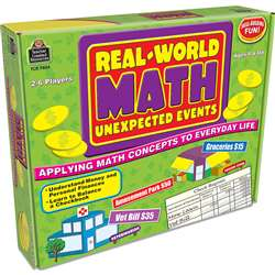 Real World Math Unexpected Events Game By Teacher Created Resources