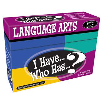 I Have Who Has Language Arts Games Gr 3-4 By Teacher Created Resources