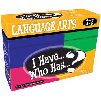 I Have Who Has Language Arts Gr 5-6 By Teacher Created Resources